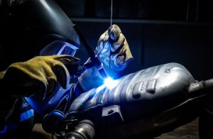 MIG welder welding