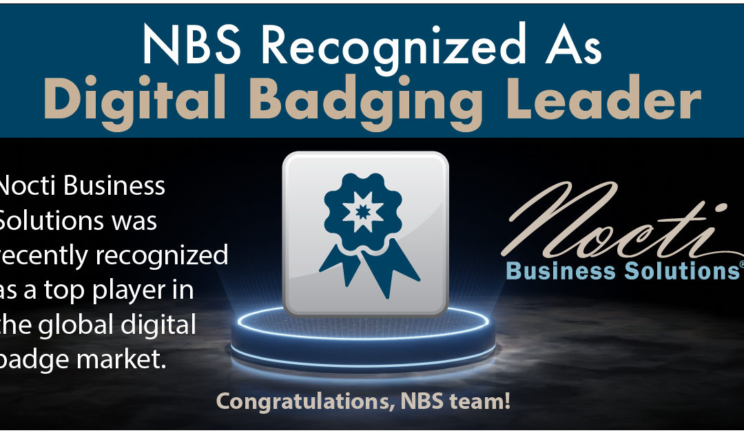Nocti Business Solutions Recognized As Global Leader In Digital Badging